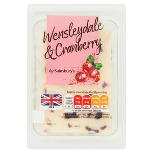 Sainsbury's Wensleydale Cheese with Cranberries 200g