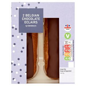 Sainsbury's Belgian Chocolate Eclairs 2x55g