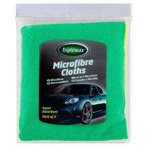 Triplewax Microfibre Cloths 3Pk
