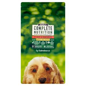 Sainsbury's Complete Nutrition Adult Dog Food with Beef & Vegetables 2.5kg