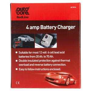 Autocare Redline Battery Charger 4amp