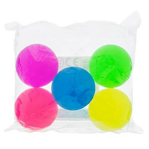 Sainsbury's Rainbow Bouncy Balls x5