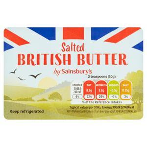 Sainsbury's British Butter, Salted 250g