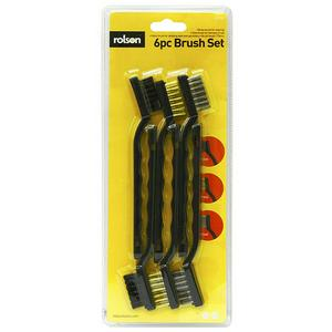 Rolson wire brush set 6pc