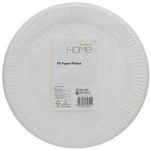 Sainsbury's Home White Paper Plates 10Pk