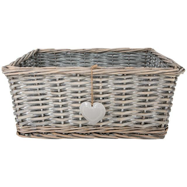 Sainsbury S Home Grey Wash Wicker Basket Small Sainsbury S