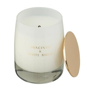 Sainsbury's Home Luxury Hyacinth & White Birch Scented Candle with Lid