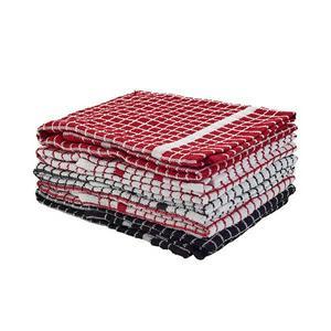Sainsbury's Home Red Black Mixed Terry Tea Towels x5