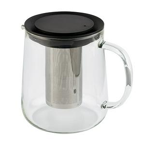 Sainsbury's Home Glass Teapot With Infuser And Black Lid 1000ml