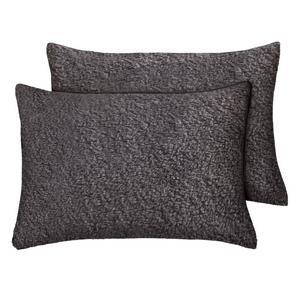 Sainsbury's Home Fleece Pillowcase Pair Grey