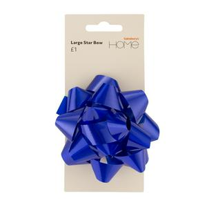 Sainsbury's Home Large Star Bow Blue