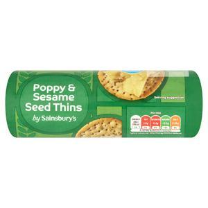 Sainsbury's Poppy & Sesame Biscuit 150g