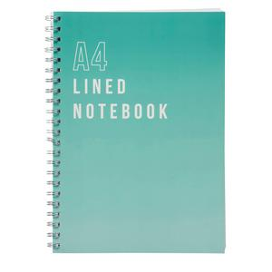 Sainsbury's Home Teal A4 Lined Notebook