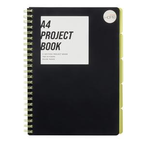 Sainsbury's Home Futurist A4 Black Project Book