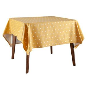 Sainsbury's Home Mustard Spot Wipe Clean Table Cloth