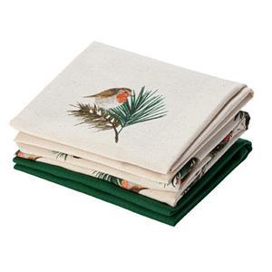 Sainsbury's Home Robin 3Pk Tea Towels