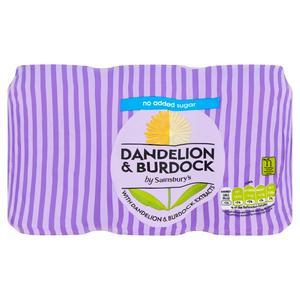 Sainsbury's Dandelion & Burdock Diet x6 330ml