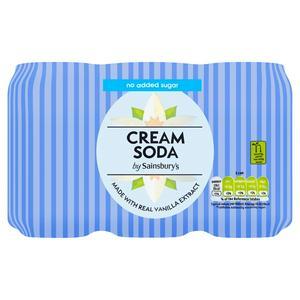 Sainsbury's Diet Cream Soda, No Added Sugar 6x330ml