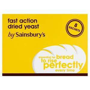 Sainsbury's Fast Action Dried Yeast Sachets x8 56g