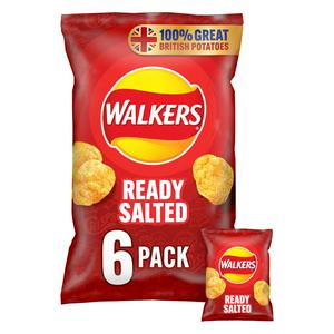 Walkers Ready Salted Multipack Crisps 6x25g
