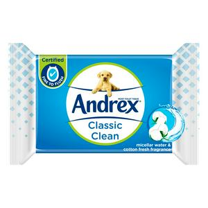 Andrex Classic Clean Washlets Moist Toilet Tissues Single Pack x40