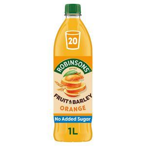 Robinsons Fruit & Barley Orange Squash No Added Sugar 1L