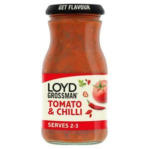 Loyd Grossman Pasta Sauce, Tomato & Chilli 350g