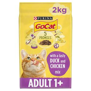 Go-Cat Adult Dry Cat Food Chicken And Duck 2kg