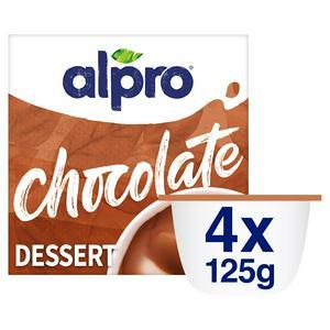 Alpro Smooth Chocolate Dessert 4x125g