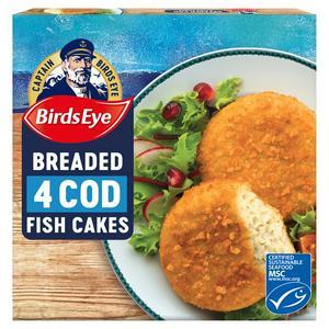 Birds Eye Cod Fish Cakes x4 198g