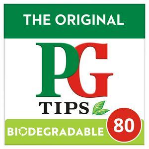 PG tips Original Biodegradable Black Tea Bags x80