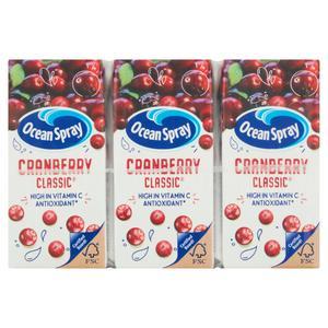 Ocean Spray Cranberry Classic Juice Drink 3x200ml