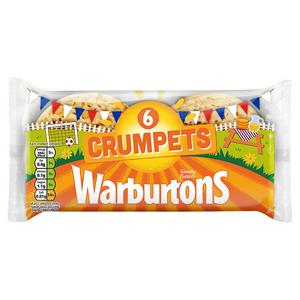 SAINSBURYS > Bakery > Warburtons Crumpets x6