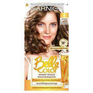Garnier Belle Color Natural Permanent Hair Dye Light Brown 6