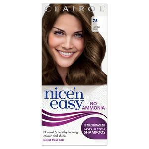 Clairol Nice'n Easy Non Permanent Hair Dye No Ammonia Light Ash Brown 75