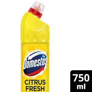 Domestos Toilet Bleach Germ Free Citrus Fresh 750ml