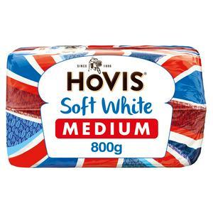 Hovis Soft Medium Sliced White Bread 800g