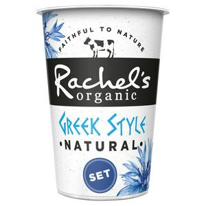 Rachel's Organic Greek Style Set Natural Yogurt 450g