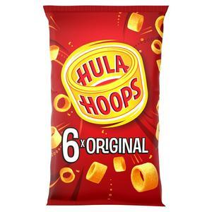 Hula Hoops Original Potato Ring Crisps 6x24g