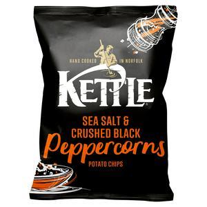 Kettle Chips Sea Salt & Crushed Black Peppercorns Sharing Crisps 150g