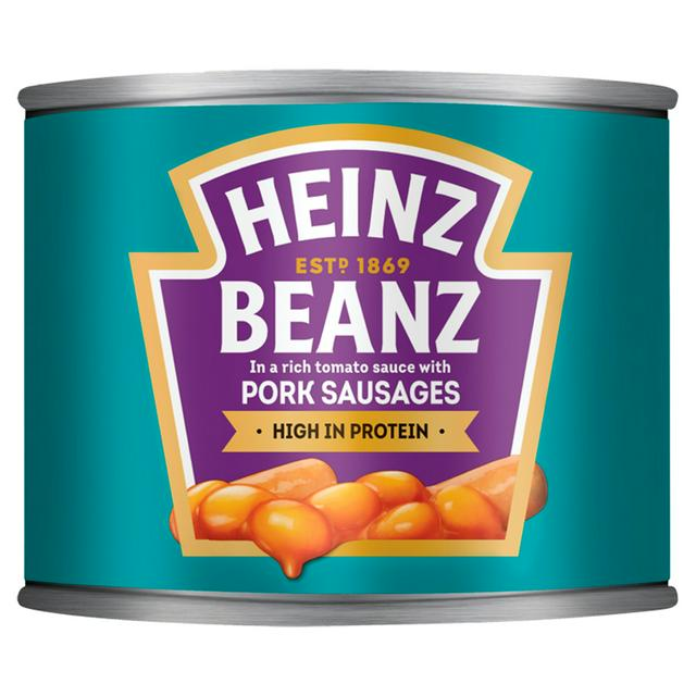 Heinz Baked Beans With Pork Sausages 200g Sainsbury S