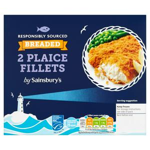 Sainsbury's Breaded Plaice Fillets x2 260g
