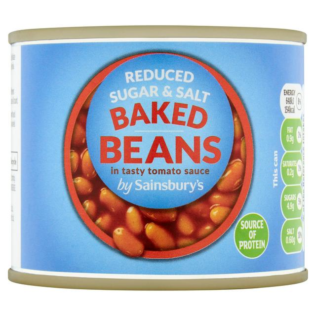 Sainsbury S Baked Beans In Reduced Sugar Salt Tomato Sauce 200g Sainsbury S