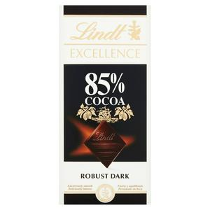Lindt Excellence Dark 85% Cocoa Chocolate Bar 100g