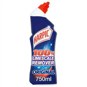 Harpic 100% Limescale Remover Toilet Cleaner Gel Fresh Scent 750ml