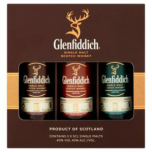 Glenfiddich Family Collection Single Malt Whisky Gift Pack 3x5cl