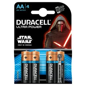 Duracell Ultra Alkaline AA Batteries, pack of 4