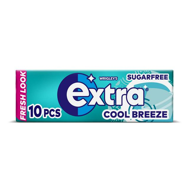 Extra Cool Breeze Chewing Gum Sugar Free 10 Pieces 14g Sainsbury S