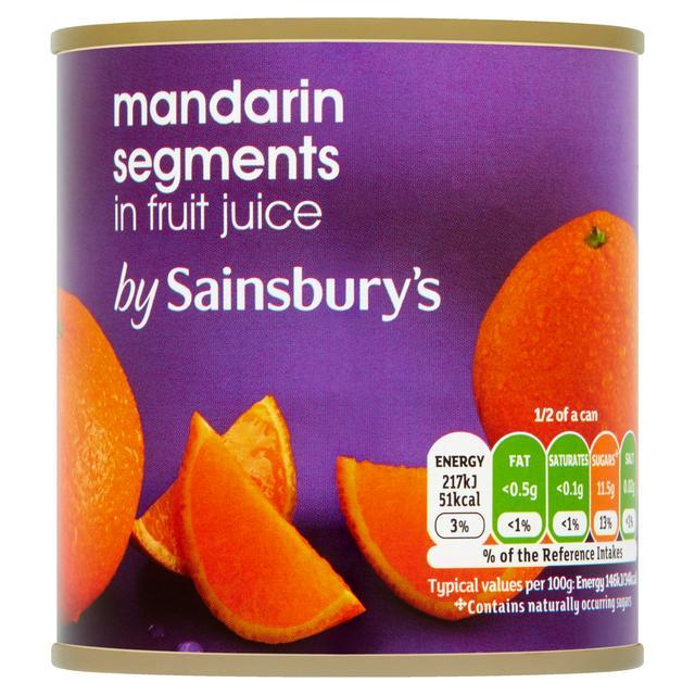 Sainsbury S Mandarin Segments In Fruit Juice 298g Sainsbury S