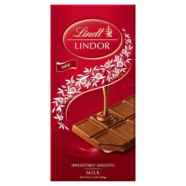 Lindt Lindor Milk Chocolate Bar 100g Sainsburys